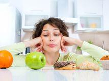 žena, ovocie, jedlo,