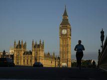 Británia, Londýn, Big Ben, Houses of Parliament, Westminsterský most
