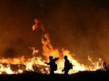 USA, lesný požiar