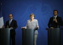 Hollande, Merkelová, Renzi