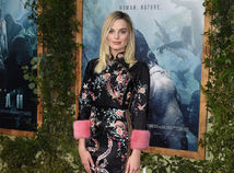 Herečka Margot Robbie bola na premiére neprehliadnuteľná.