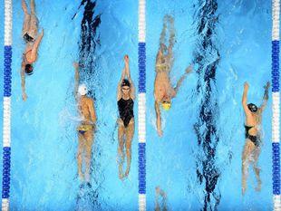 plávanie, bazén, preteky