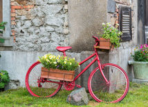 bicykel, dekorácia