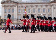 londýn, buckingham palace, stráž
