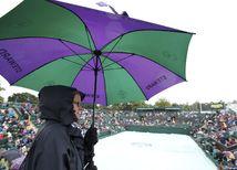 Wimbledon, dážď, ilustračná