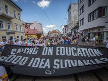 učitelia, protest