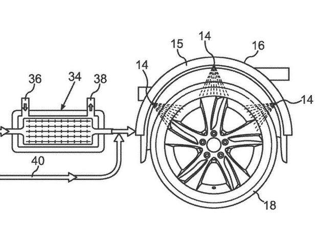 Mercedes-Benz -  chladenie pneumatík