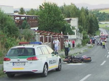 nehoda, auto, motocykel, polícia