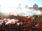 Portugalskí fanúšikovia v Lisabone.