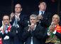 Na zápase nechýbal ani portugalský prezident Marcelo Rebelo de Sousa (vpravo).