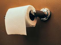 WC, záchod, hnačka, toaletný papier,