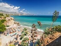 Španielsko, more, Andalúzia, leto, letná dovolenka pri mori, pláž, turisti,