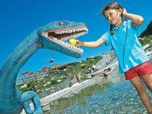 Triassic park, Alpy, Tirolsko, Rakúsko, dinosaurus,