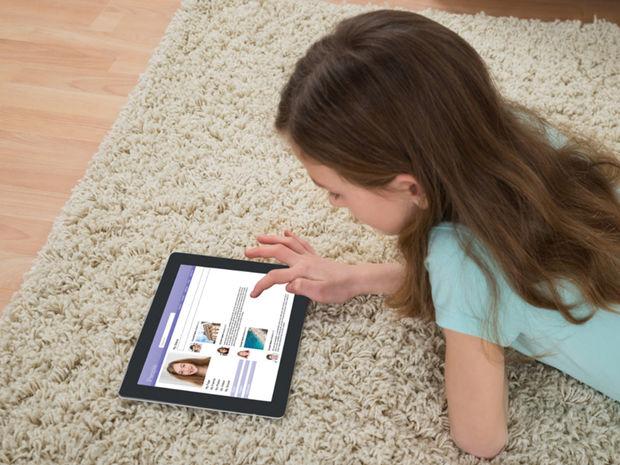 dieťa, tablet, technológie,
