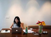 počítač, žena, online