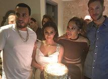 Záber z oslavy speváčky Jennifer Lopezovej.