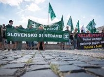 PROTEST: Proti Dúhovému Pridu v Bratislave, ľsns, kotlebovci,