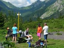 Tichá dolina, cykloturistika, vysoké tatry, turista, dovolenka, hory, turisti,