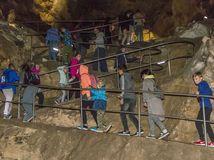 Belianska jaskyňa, kvaple, stalagmity, stalaktity, stalagnáty
