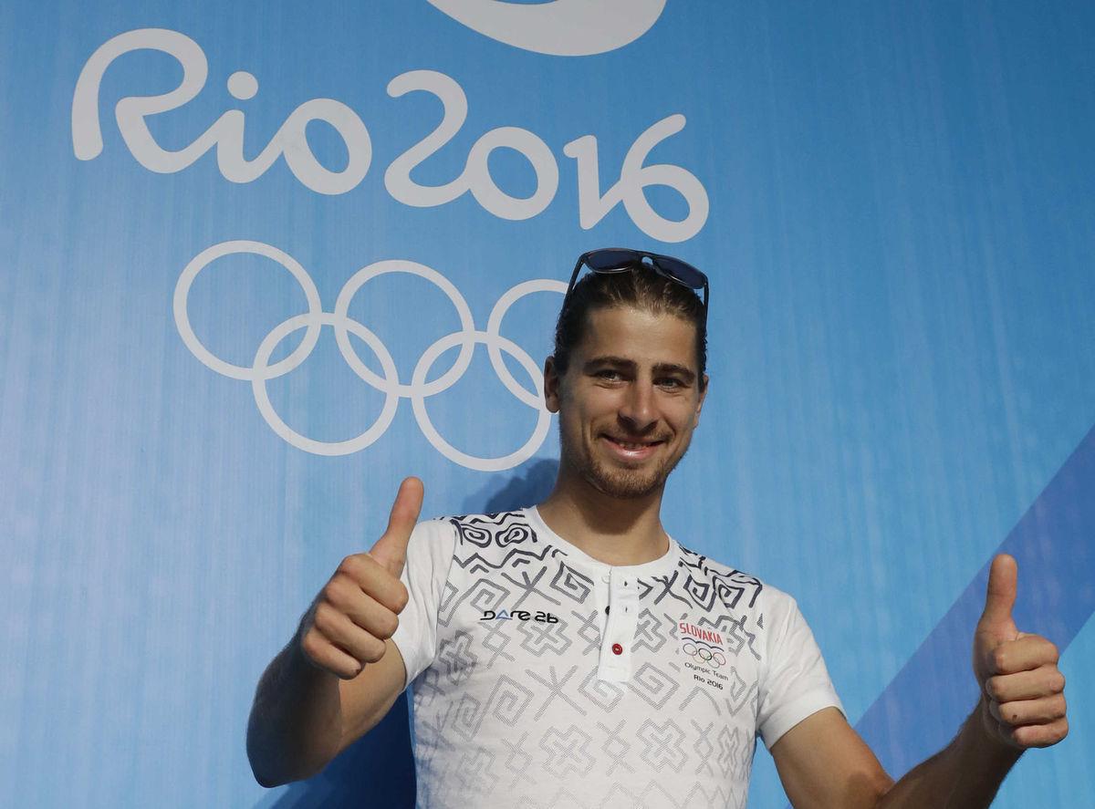 Peter Sagan takto pózoval v dejisku olympijských hier.