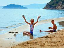 pláž, Gerakas, Grécko, Zakynthos, deti, leto, dovolenka, cestovanie, prázdniny