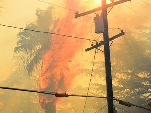 Kalifornia, plamene, požiar, oheň, horí, horenie