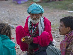 Pakistan, starec, starý muž,