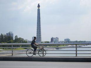 Severná Kórea, KĽDR, cyklista, bicyklovanie, Pchjongjang