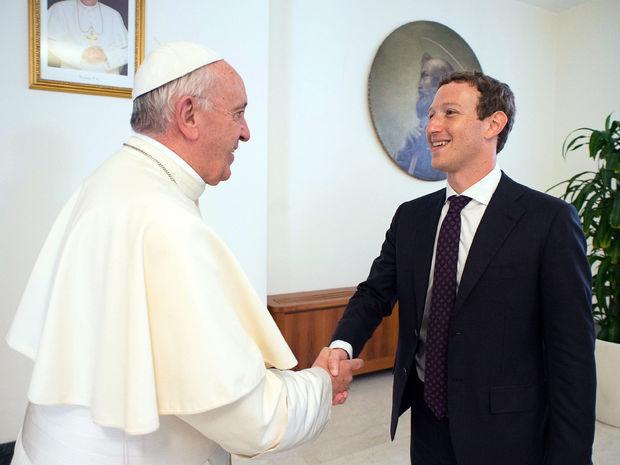 Vatikán, Zuckerberg