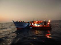 utečenci, loď