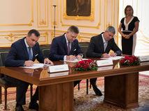 koalícia, podpis, fico, danko, bugár