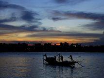 loď, čln, rieka, India, Ganga