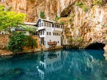 Blagaj, jazero, kláštor, Bosns a Hercegovins