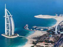 dubaj, cestovanie, more, mrakodrapy, pláž