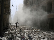 ruiny, Aleppo, Sýria