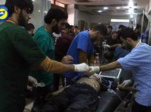 sýria, aleppo, nemocnica
