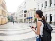 turista, mesto, telefon, mobil, internet