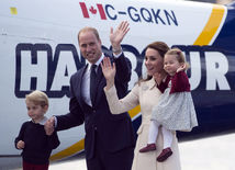 William, Kate, Charlotte