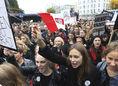 poľsko, štrajk, protest, ženy