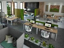 kancelária, zamestnanie, pracovisko, miestnosť, architektúra