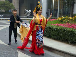 Čína, kostým,