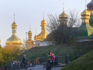 Ukrajina, chrámy, veže, strechy