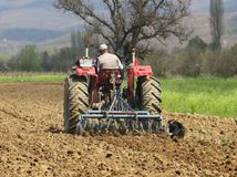 farmári, traktor, pole, vlastníctvo pôdy