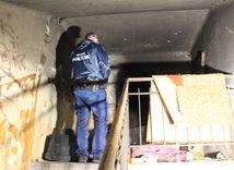 žilina, požiar, policajti