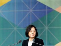 taiwanská prezidentka  Tsai Ing-wen