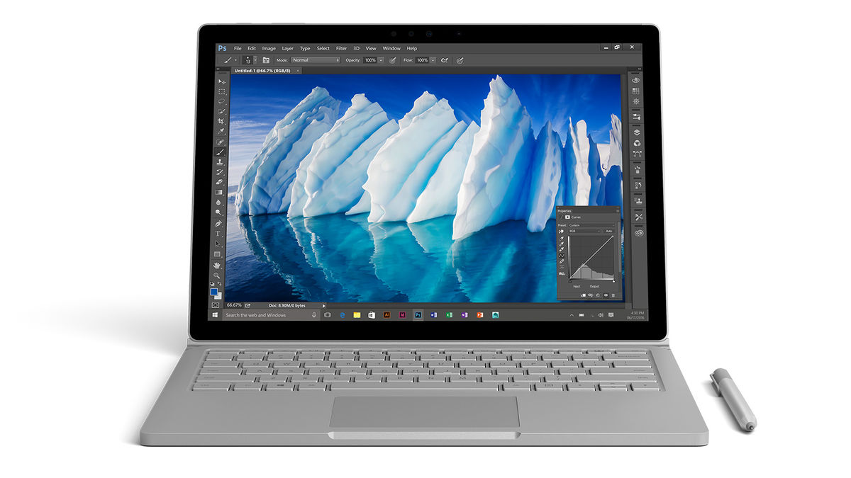 Notebook Surface Book i7 má maximálne 16 hodinovú výdrž na batériu. Takisto má tiež mimoriadne vysokú cenu.