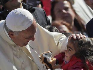 pápež František, Vatikán, dieťa, plyšák