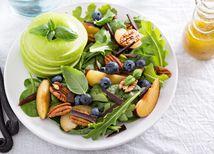 orechy, šalát, zelenina