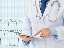 srdce, ekg, vyšetrenie, lekár,