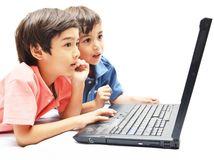 deti, počítač, notebook, laptop
